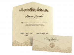 Klassieke trouwkaart Skyline Istanbul