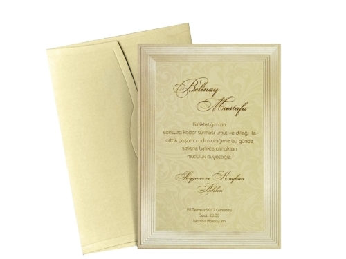 Moderne trouwkaart
