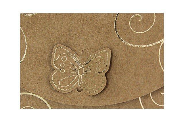 Romantische trouwkaart met vlinder