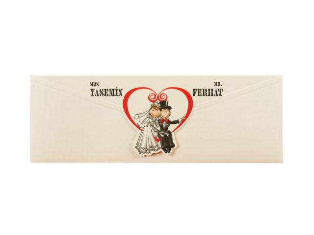Grappige romantische trouwkaart