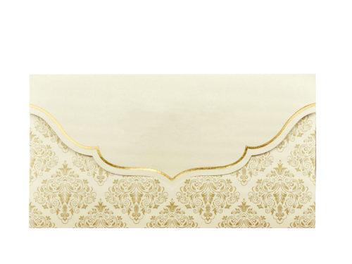 Clutchkaart met barokdessin