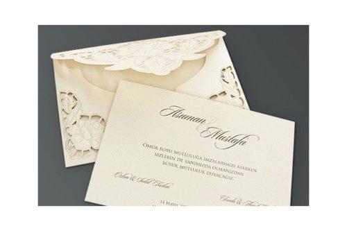 Stijlvolle trouwkaart met roos
