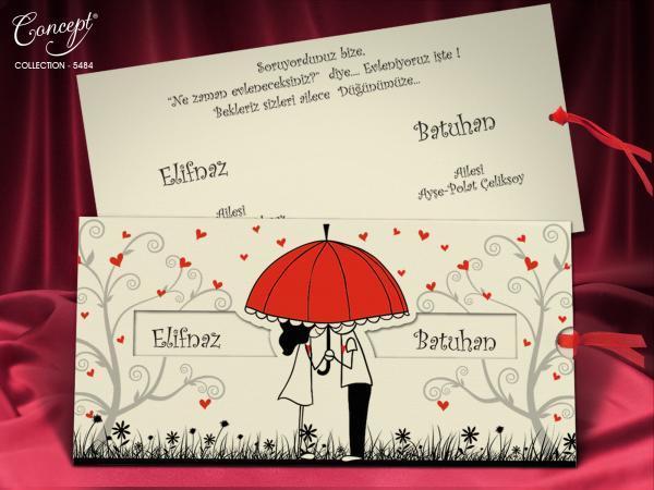 Moderne romantische trouwkaart