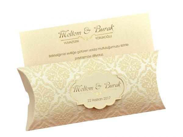 Moderne trouwkaart met doos 5505