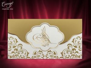 Moderne trouwkaart met embleem