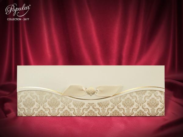 Klassieke trouwkaart met strik