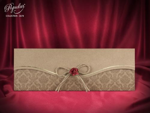 Klassieke trouwkaart met mooie strik