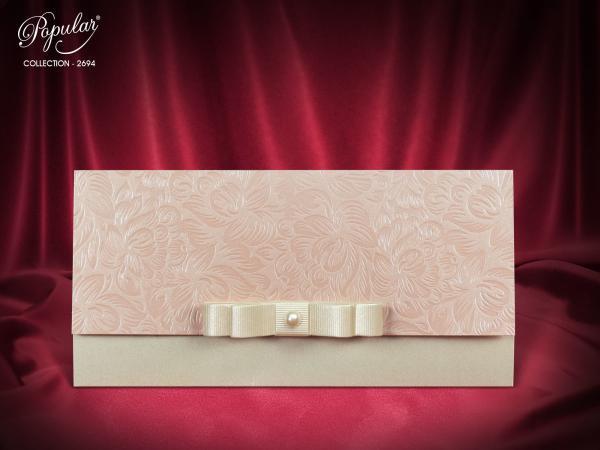 Mooie trouwkaart met strik