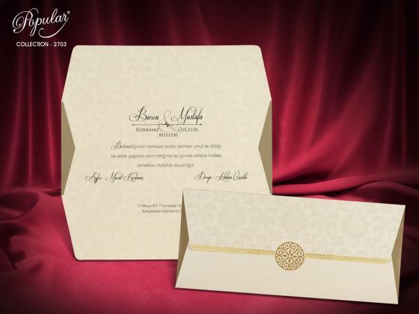 Stijlvolle trouwkaart