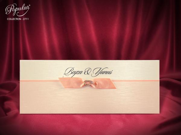 Vouw trouwkaart met strik