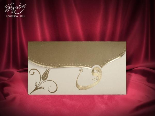 Stijlvolle trouwkaart met klep