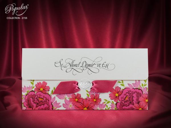 Flowers trouwkaart