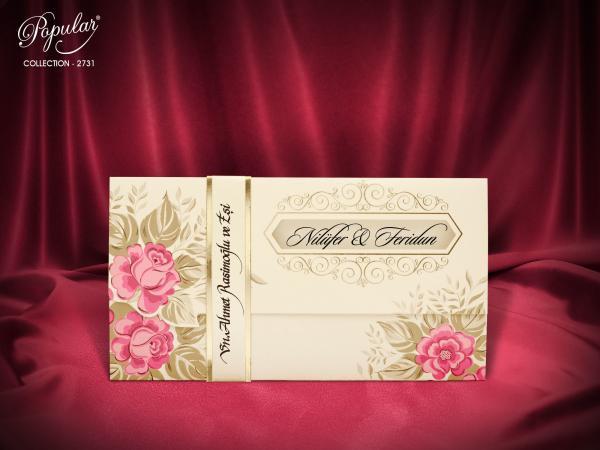 Moderne trouwkaart met wikkel