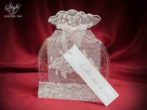 Luxe doorzichtige trouwkaart