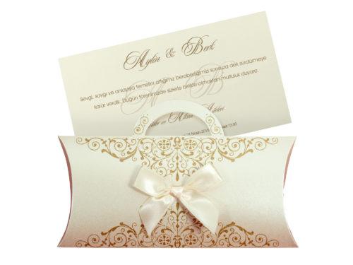 Stijlvolle luxe trouwkaart