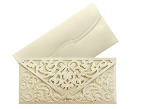 Luxe trouwkaart goud