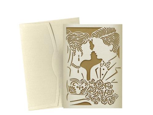 Luxe trouwkaart met opdruk