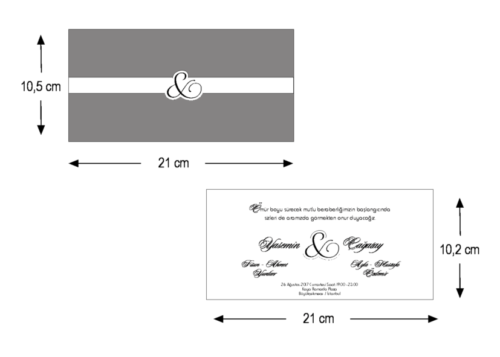 Stijlvolle huwelijkskaart