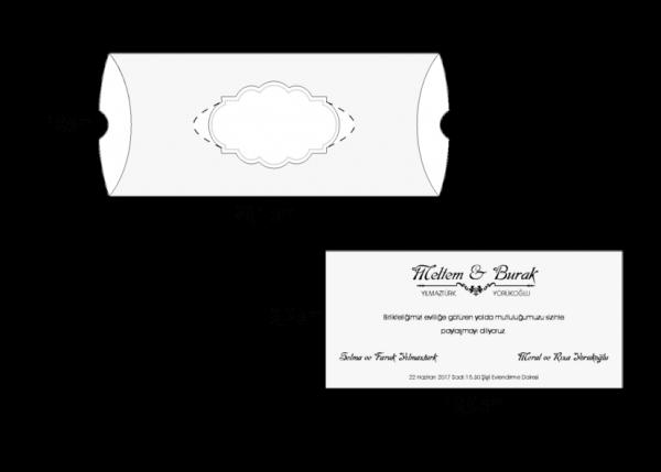 Donker rode trouwkaart in doosje