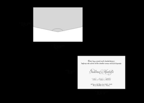 Luxe kraft trouwkaart