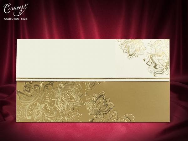 Klassieke trouwkaart met sierlijke details