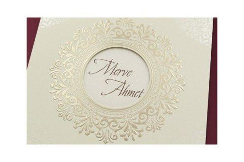 Stijlvolle vierkante trouwkaart