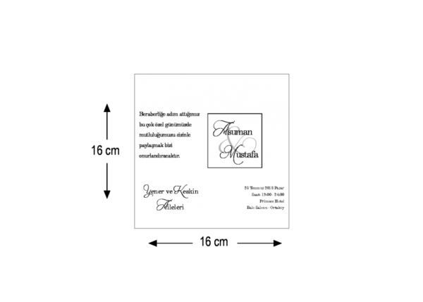 vierkante kraft trouwkaart 5555