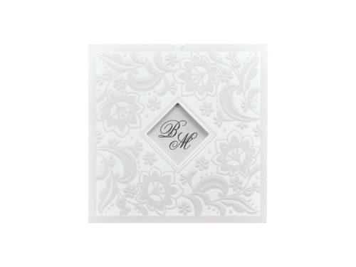 Vierkante luxe trouwkaart