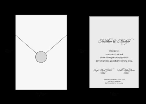 Luxe trouwkaart met envelop en embleem 2