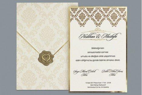 Luxe trouwkaart met envelop en embleem 1