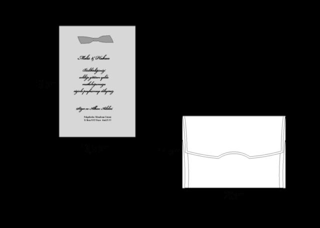 Trouwkaart met decoratieve lijst zilver 2