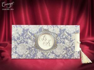 Luxe trouwkaart met decoratie
