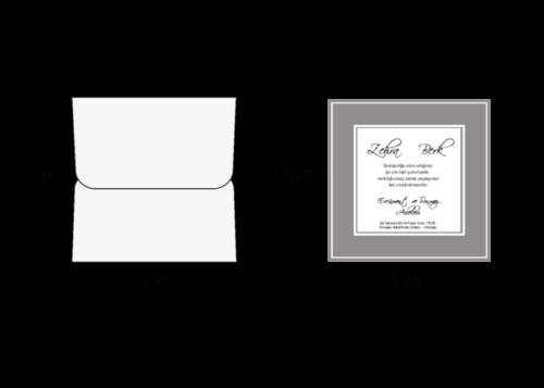 Vierkante trouwkaart zilver
