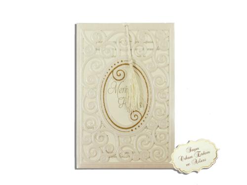Luxe bruiloft kaart
