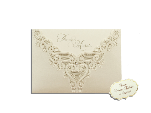Luxe huwelijkskaart met parel