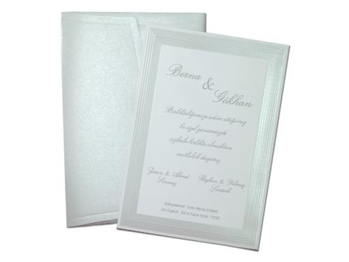 Stijlvolle trouwkaart 5396