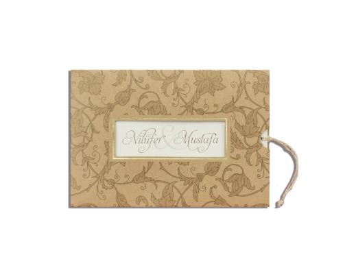 Klassieke kraft huwelijkskaart