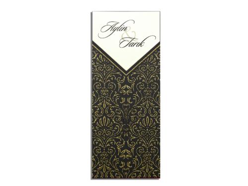 Luxe zwarte huwelijkskaart