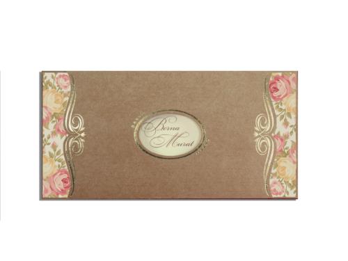 Klassieke trouwkaart met bloem