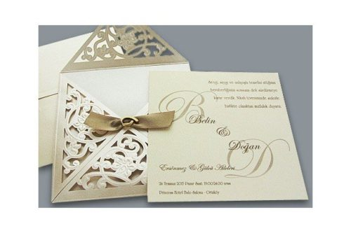 Luxe gouden huwelijkskaart