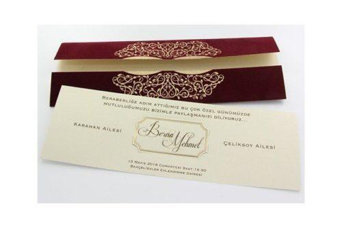 Gevoerde trouwkaart