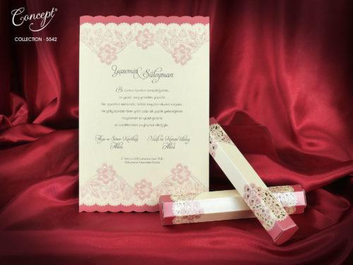 Huwelijkskaart in doosje 5542