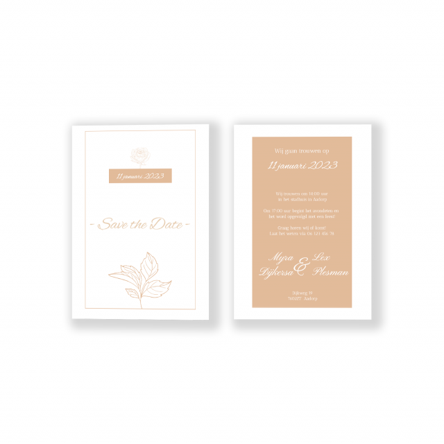 Bruiloft uitnodigingskaart lente kleuren