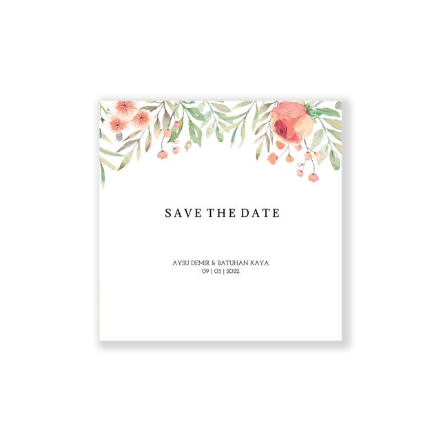 Simpele goedkope Save the date kaart vierkant
