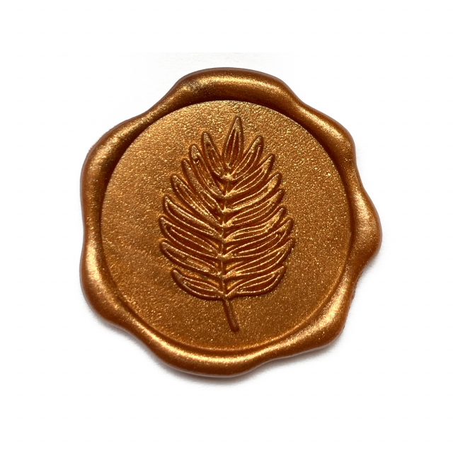 Wax zegel takje brons