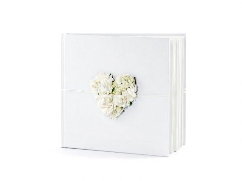 Gastenboek met 3D bloem decoratie