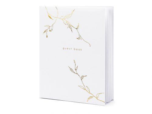 Gastenboek met gouden versiering